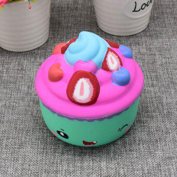Slow Rising Squishy Food Ice Cream Cup Simulation Toy -  GREEN