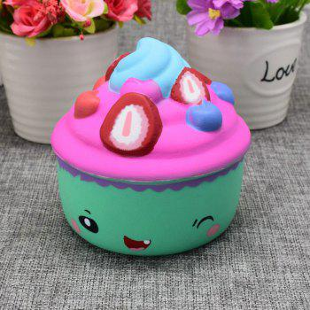 Slow Rising Squishy Food Ice Cream Cup Simulation Toy - GREEN GREEN