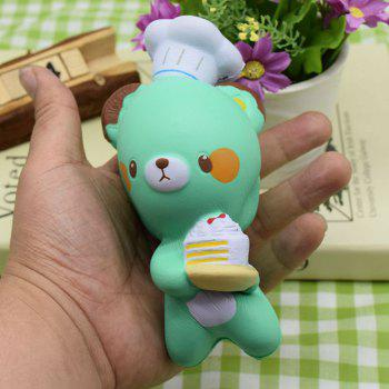 Squishy Toy Slow Rising Simulation Kitchener Bear -  GREEN