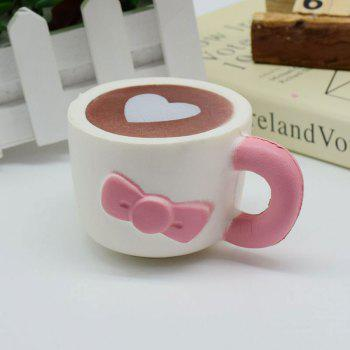 Heart Bowknot Simulation Cup Slow Rising Squishy Toy -  PINK