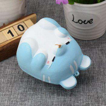 Simulation Animal Hamster Slow Rising Squishy Toy - BLUE