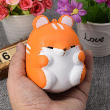 Simulation Animal Hamster Slow Rising Squishy Toy - ORANGE ORANGE