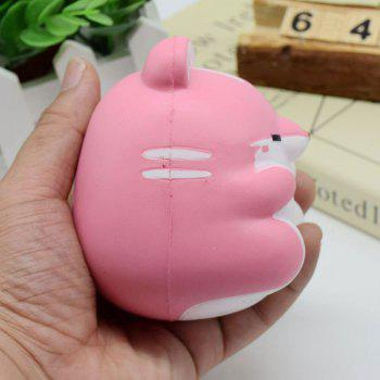 Simulation Animal Hamster Slow Rising Squishy Toy -  PINK