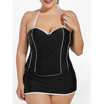 Halter Padded Underwire Plus Size Tankini