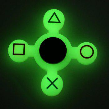 Mathematical Symbol Silicone Fidget Spinner -  LUMINOUS GREEN