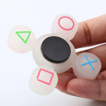Mathematical Symbol Silicone Fidget Spinner - WHITE WHITE