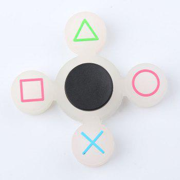 Mathematical Symbol Silicone Fidget Spinner -  WHITE