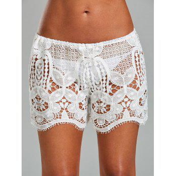 Crochet Swimsuit Cover Up Shorts
