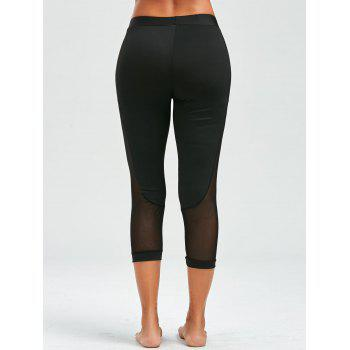 Mesh Insert Cropped Leggings - XL XL