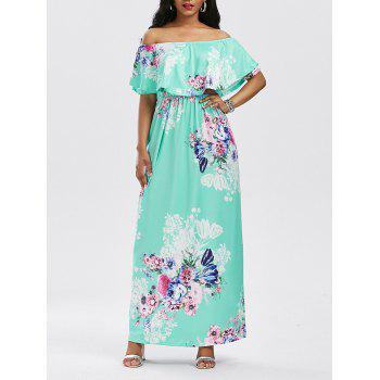 Flounce Floral Off The Shoulder Maxi Dress