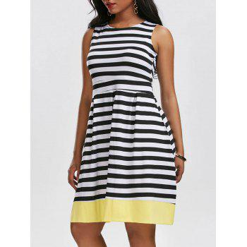 Vintage Striped Contrast Dress