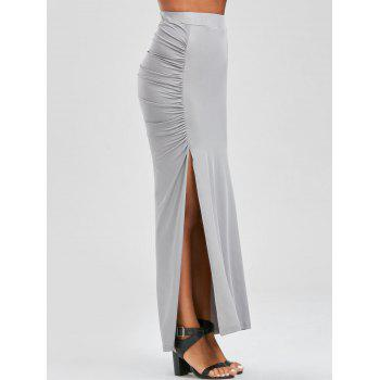 Side Slit Maxi Pencil Skirt
