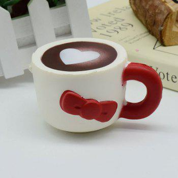 Heart Bowknot Simulation Cup Slow Rising Squishy Toy - RED RED