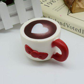 Heart Bowknot Simulation Cup Slow Rising Squishy Toy -  RED