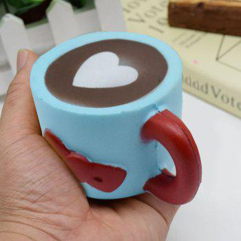 Heart Bowknot Simulation Cup Slow Rising Squishy Toy - BLUE BLUE