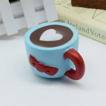 Heart Bowknot Simulation Cup Slow Rising Squishy Toy -  BLUE