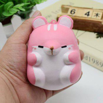 Simulation Animal Hamster Slow Rising Squishy Toy - PINK PINK