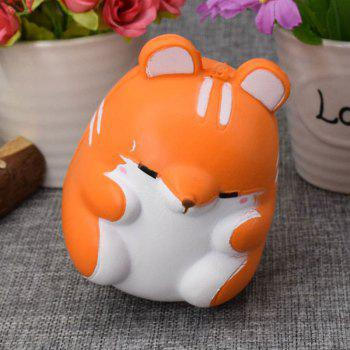 Simulation Animal Hamster Slow Rising Squishy Toy -  ORANGE