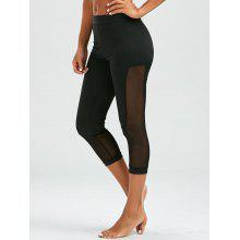 Mesh Insert Cropped Leggings