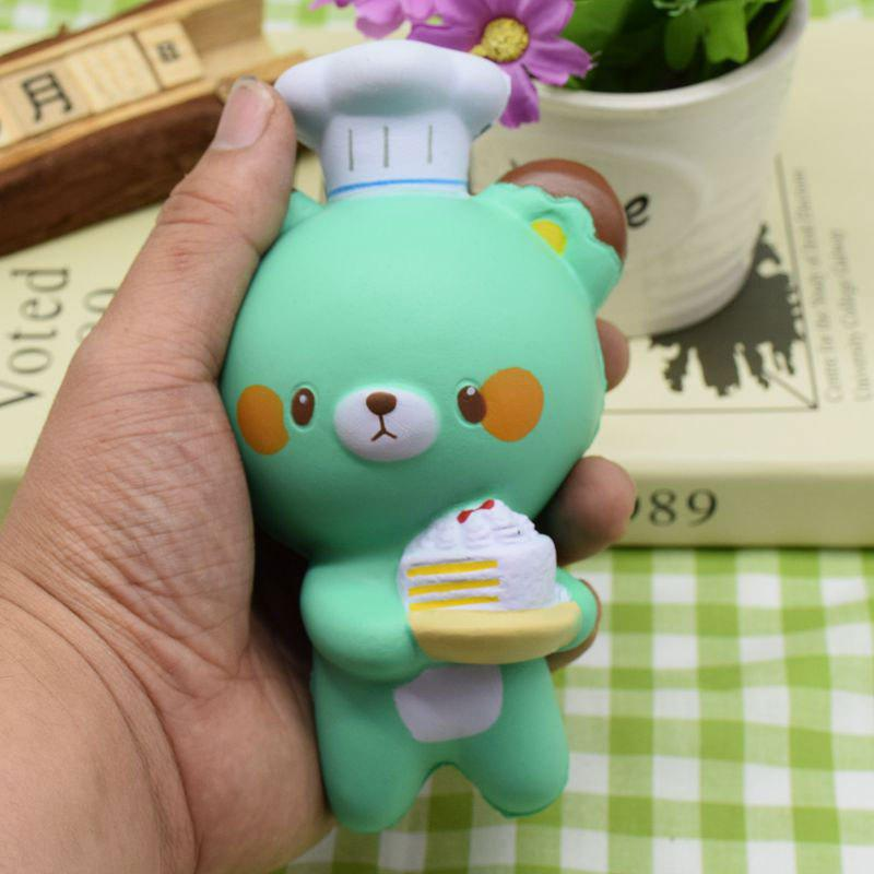 Squishy Toy Slow Rising Simulation Kitchener Bear - Vert