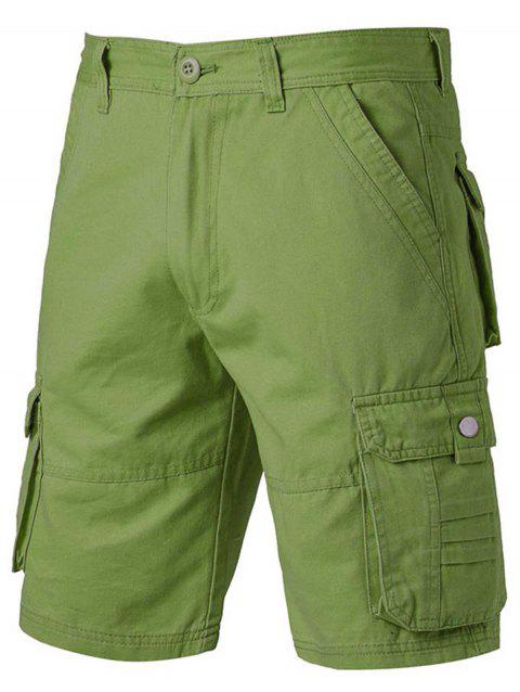 Zipper Fly Pockets Design Applique Cargo Shorts - ARMY GREEN 32