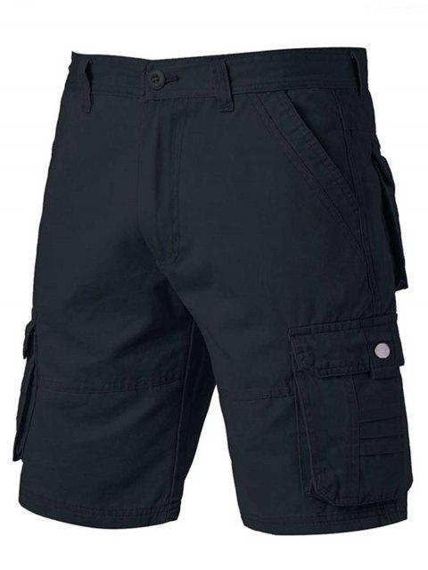 Zipper Fly Pockets Design Applique Cargo Shorts - CADETBLUE 40