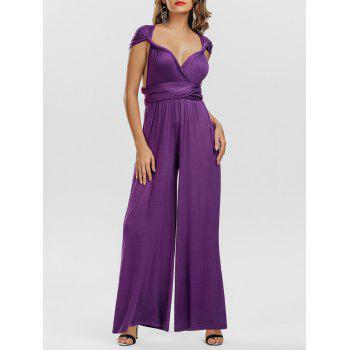 Infinity Convertible Multiway Wide Leg Wrap Jumpsuit