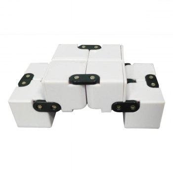 EDC Plastic Infinity Cube for Stress Relief -  WHITE