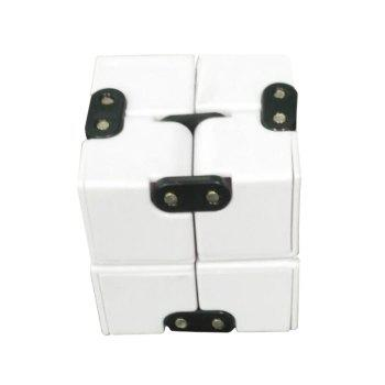 EDC Plastic Infinity Cube for Stress Relief - WHITE WHITE