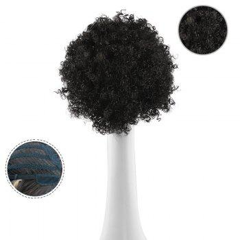 Shaggy Afro Curly Short Synthetic Wig -  BLACK