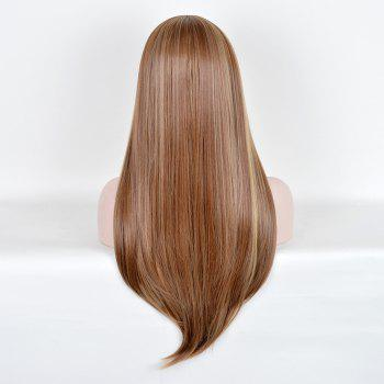 Full Bang Highlight Long Silky Straight Colormix Synthetic Wig -  COLORMIX