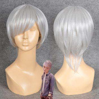Neon Genesis Evangelion Cosplay Side Bang Straight Short Synthetic Wig