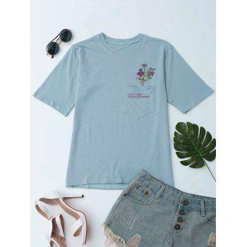 Pocket Just Take These Flowers Graphic Tee