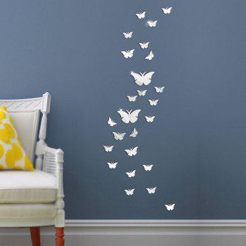 25 PCS Butterflies Decorative Removable Mirror Wall Decals