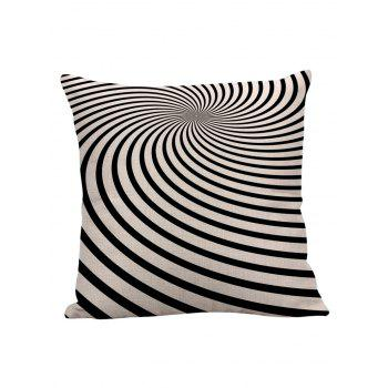 Zebra Stripe Linen Pillow Case - BLACK WHITE BLACK WHITE