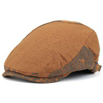 Newsboy Hat with Leaf Pattern