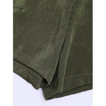 Self Tie Casual Shorts - ARMY GREEN XL