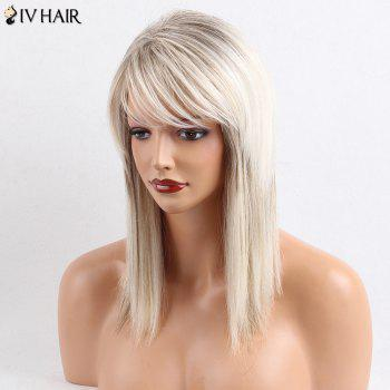 Siv Hair Side Bang Straight Medium Colormix Human Hair Wig -  COLORMIX