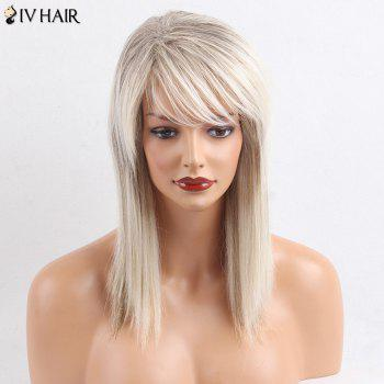Siv Hair Side Bang Straight Medium Colormix Human Hair Wig - COLORMIX COLORMIX