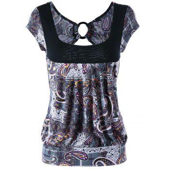 Paisley Open Back T-shirt