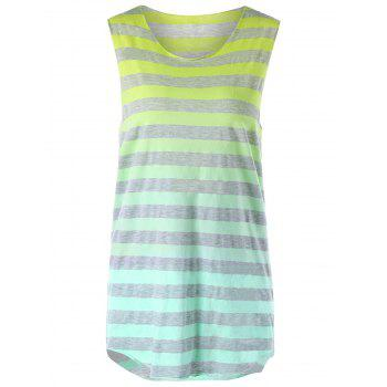 Ombre Striped Sleeveless T-shirt