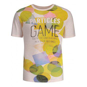 Colorful Geometry Printed Short Sleeves T-shirt