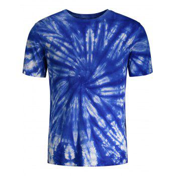 Tie Dye Printed Short Sleeves T-shirt