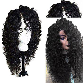 Long Side Part Shaggy Jerry Curly Lace Front Human Hair Wig