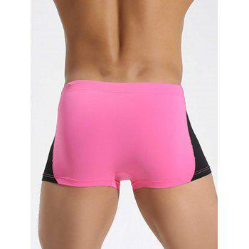 Drawstring Color Block Swimming Trunks - TUTTI FRUTTI M