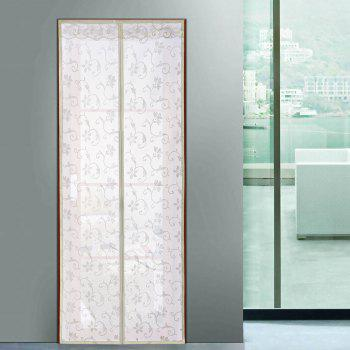 Summer Mesh Anti Insect Breathable Door Magnetic Curtain - BEIGE 100*210CM