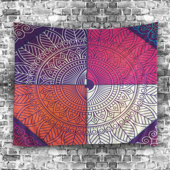 Wall Art Mandala Eye Print Tapestry - coloré 150*130CM