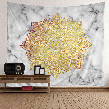 Wall Art Flower Print Tapestry - YELLOW 200*150CM