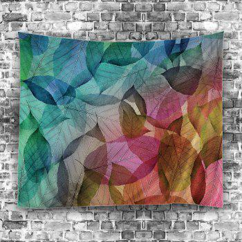 Leaf Print Wall Hanging Art Decoration Tapestry - COLORFUL W59 INCH * L79 INCH