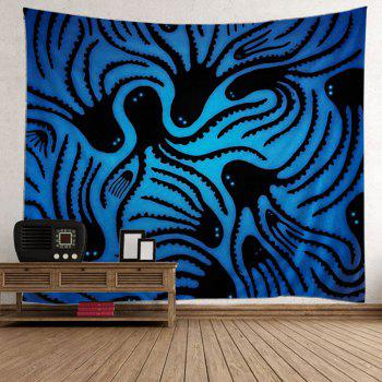 Octopus Wall Hanging Tapestry - BLUE W59 INCH * L79 INCH